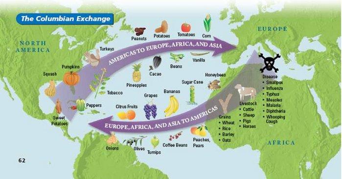 Columbian Exchange and Atlantic Slave Trade